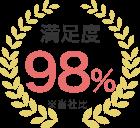 満足度98%(当社比)