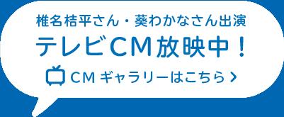 椎名桔平さん、葵わかなさん出演 TVCM放映中! CMギャラリーはこちら