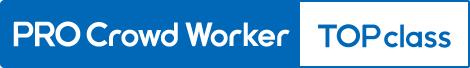 Top professional worker logo blue